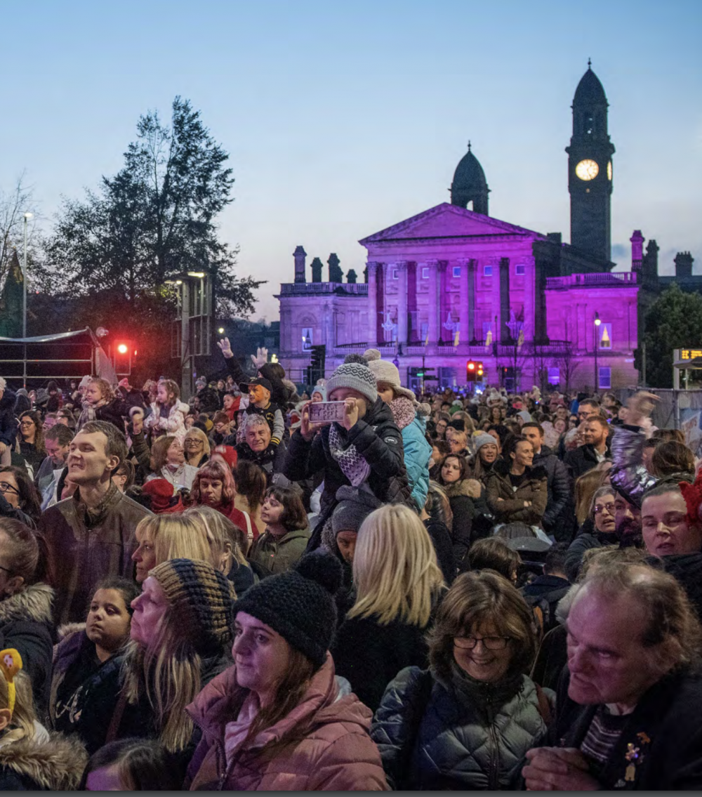 crowded outdoor event in Paisley