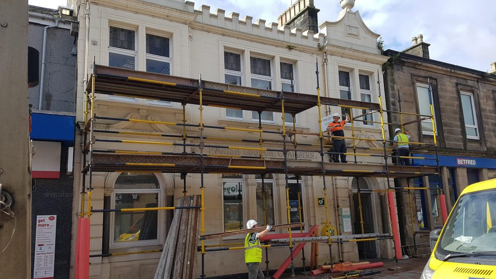 building renovation in progress (image courtesy Carluke BID)