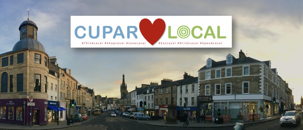 view of Cupar town centre