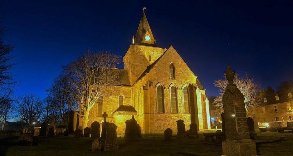 dornoch cathedral at night