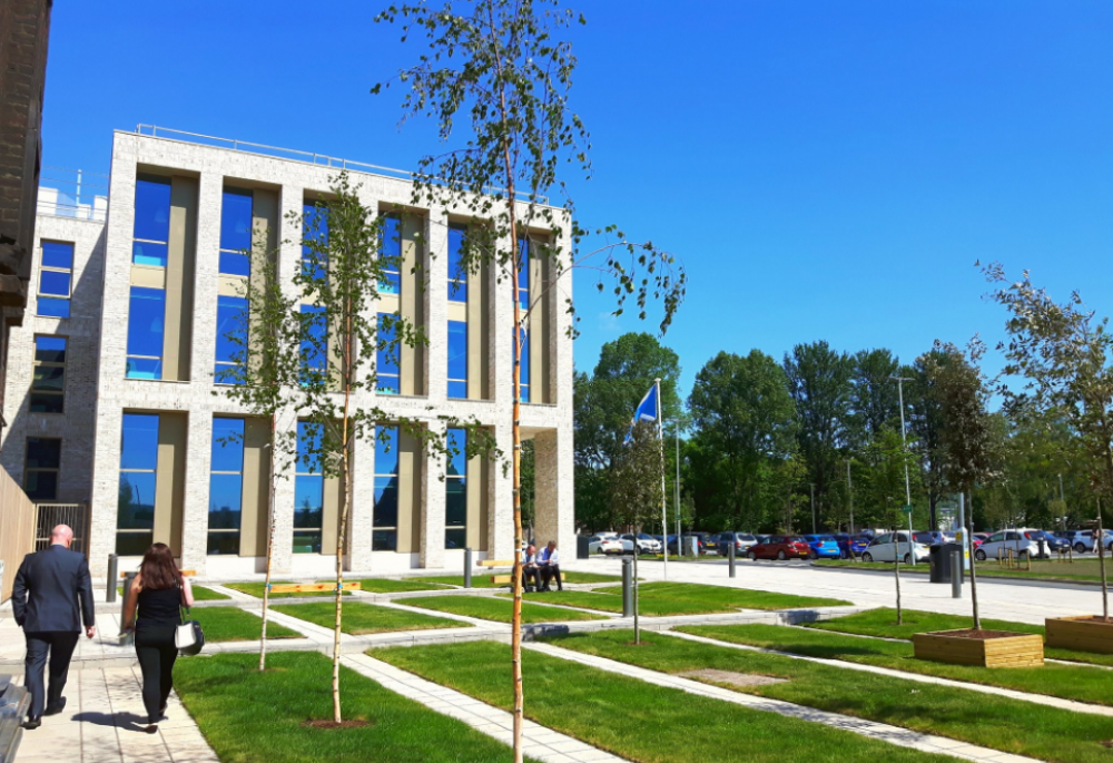 new headquarters building (image courtesy of West Dunbartonshire Council)