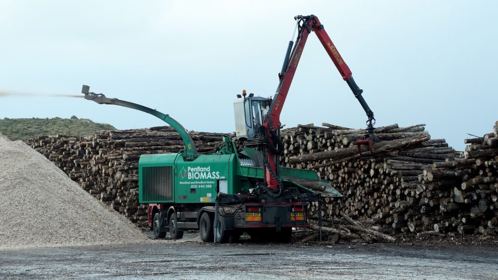Wick district heating from timber