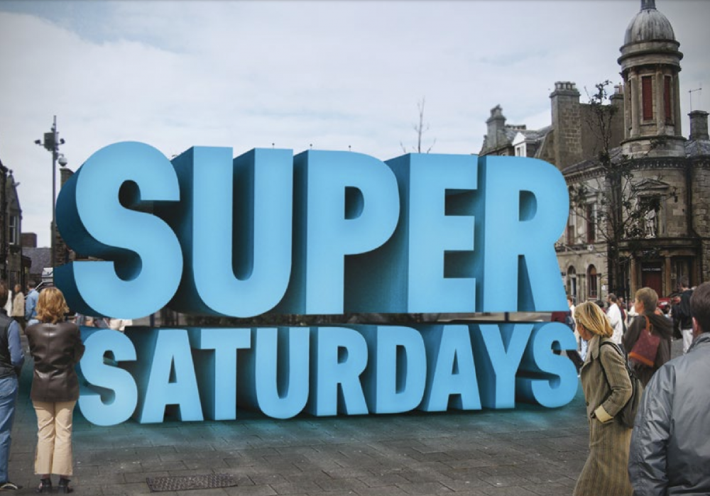 super saturday logo (reproduced from Scottish Government Town Centre Toolkit, 2015)